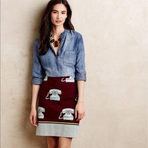 Anthropologie Skirts - Anthropologie | Maeve Clementina Telephone Skirt